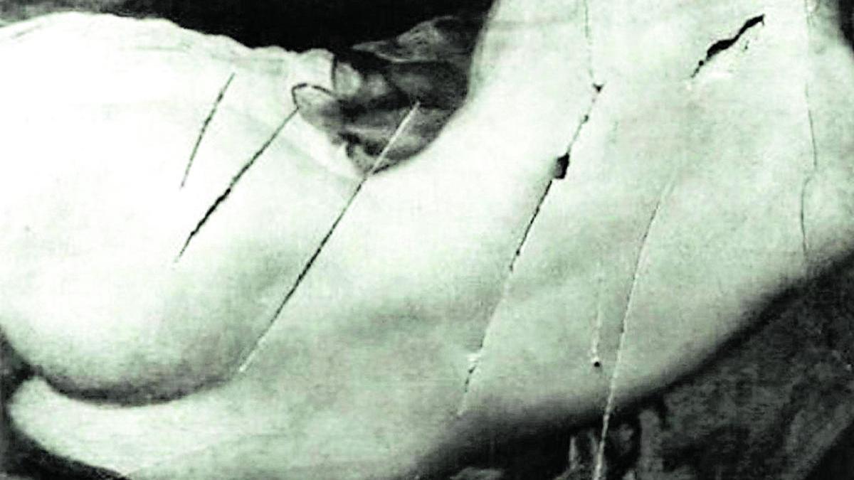 Ataque sufrido por la Venus del Espejo de Velázquez en la National Gallery de Londres el 10 de marzo de 1914.