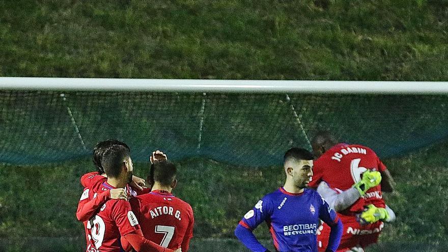 La crónica del Amorebieta-Sporting de Copa (0-1): Los rojiblancos superan un mal trago
