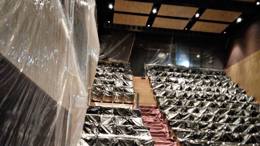 Culmina el tratamiento contra la carcoma en el Teatro Olimpia de Villa del Río