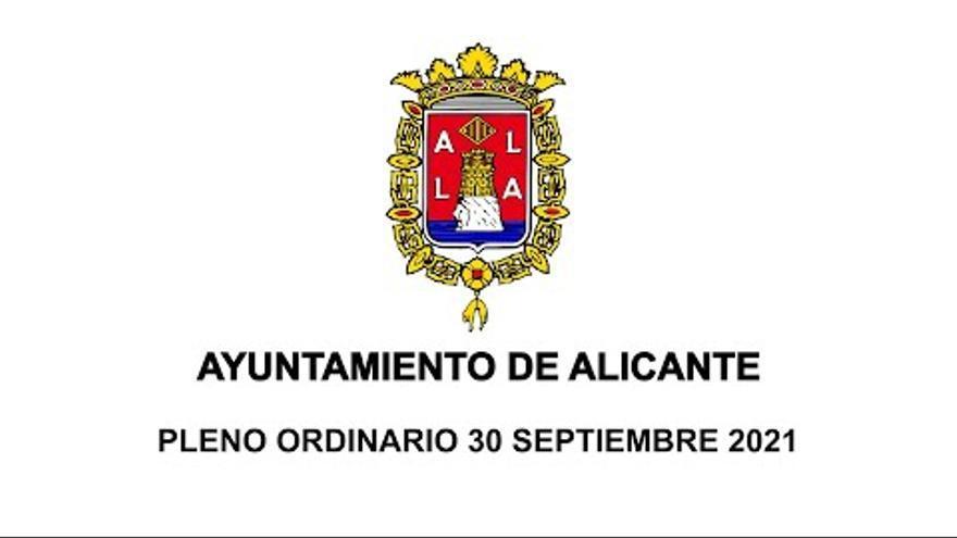 Pleno ordinario del Ayuntamiento de Alicante del 28 de octubre de 2021