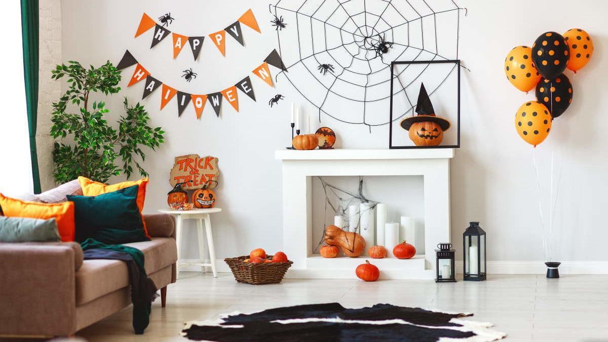 Decoración casera de Halloween.