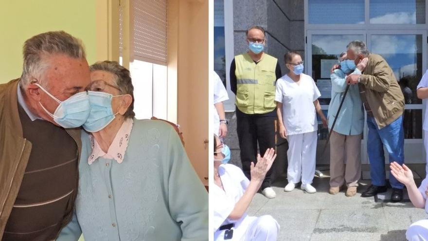 Carmen y José, 63 años de un amor que recupera los besos y abrazos
