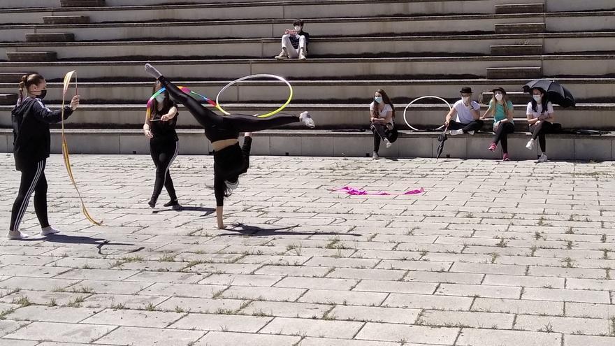 El Campus Viriato de Zamora se convierte en una pista de circo