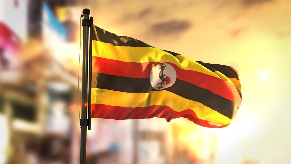 Bandera de Uganda.