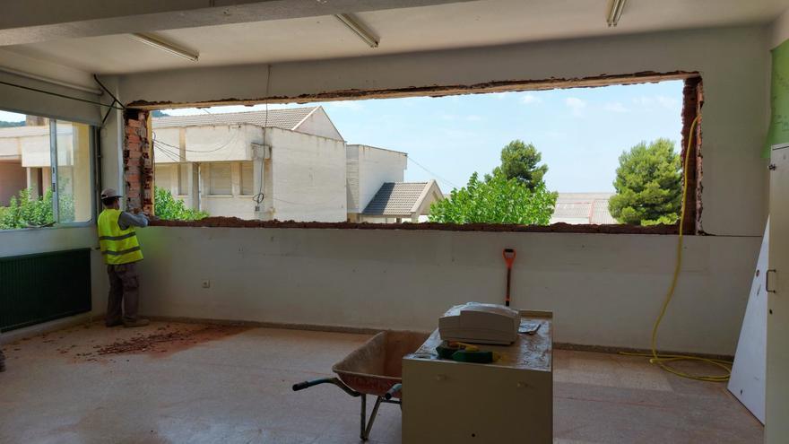 Comienza la mejora del colegio público de Biar