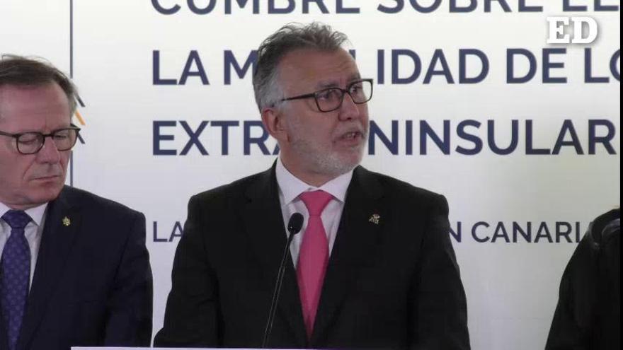 Ángel Víctor Torres reclama que se mantengan las tasas de navegación tras el Brexit