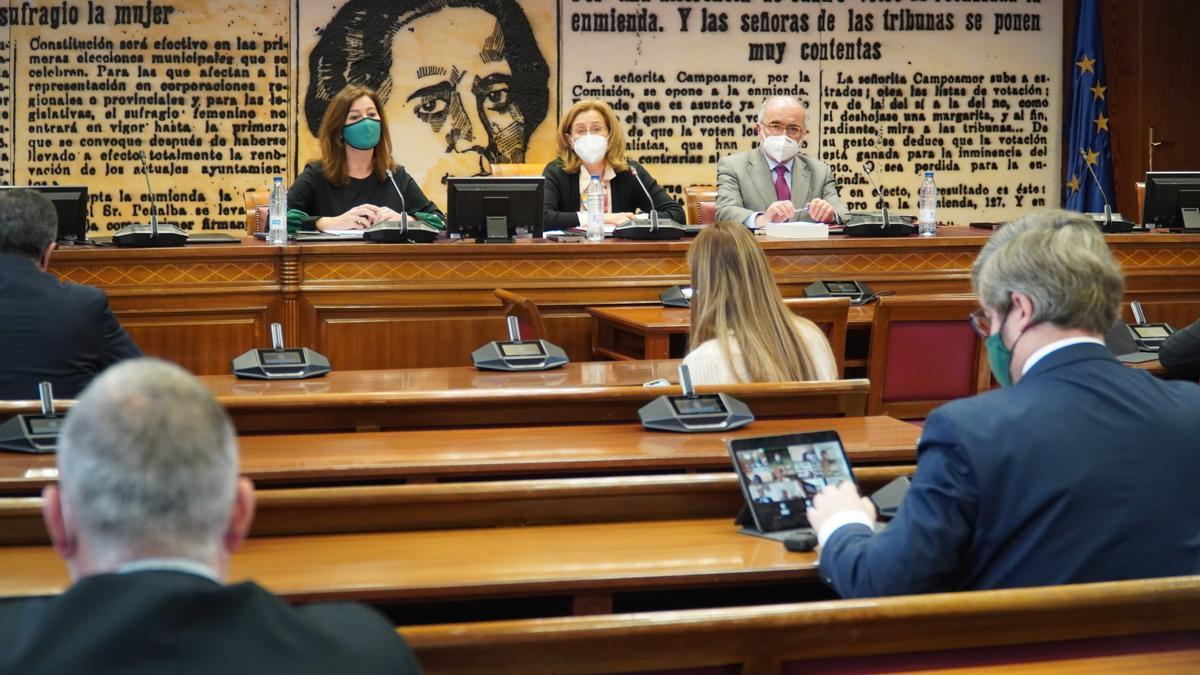 Armengol hoy en su comparecencia en el Senado