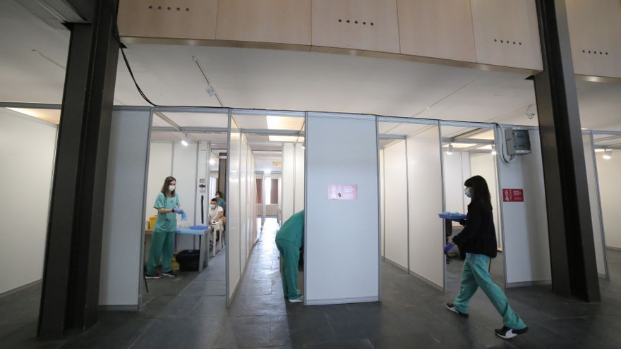 Jornada de clausura del punto de vacunación masiva del Auditori de Castelló