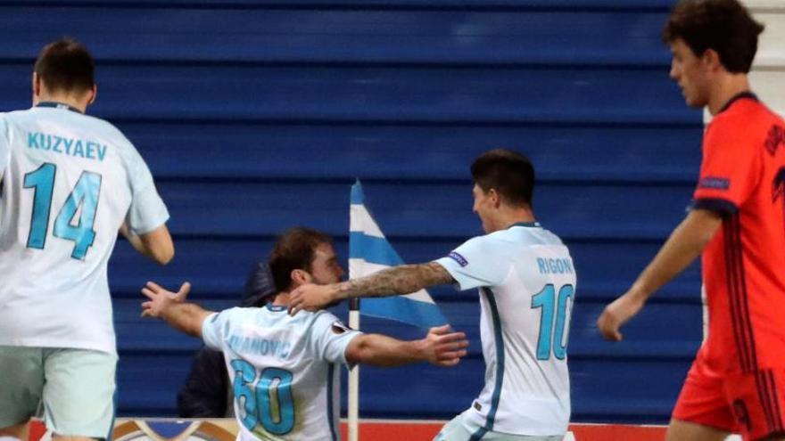 La Real cae ante el Zenit y pierde el primer puesto