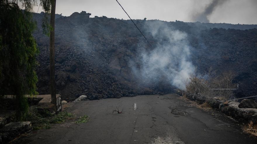 Desalojo del núcleo de Todoque, en Los Llanos de Aridane, por la erupción del volcán en La Palma