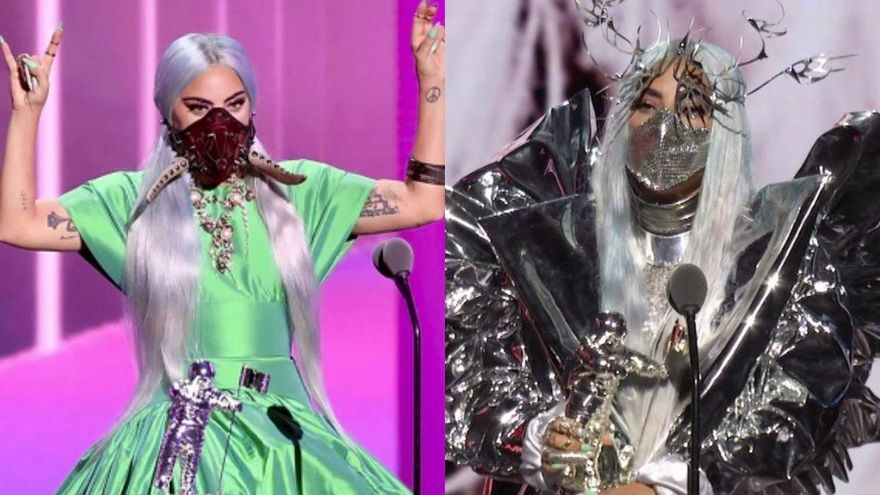 Las disparatadas mascarillas de Lady Gaga arrasan en los MTV