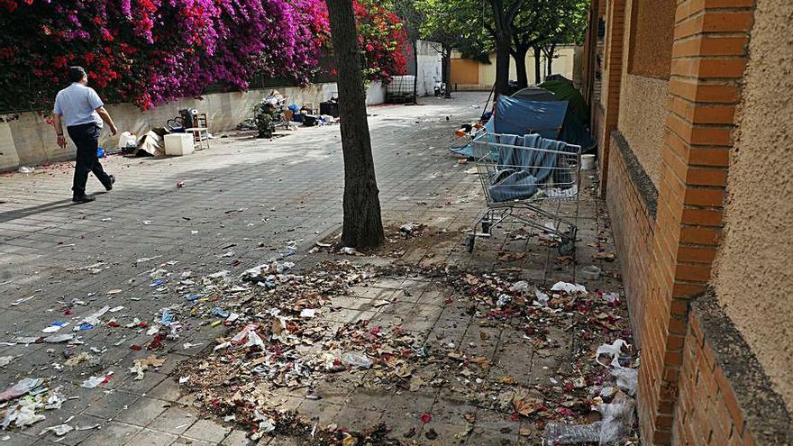 Obras para abrir la calle entre la Gran Vía y el Jardín Botánico