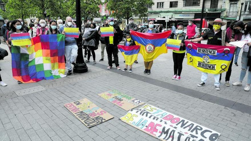 """Protesta contra la """"represión"""" en Colombia"""