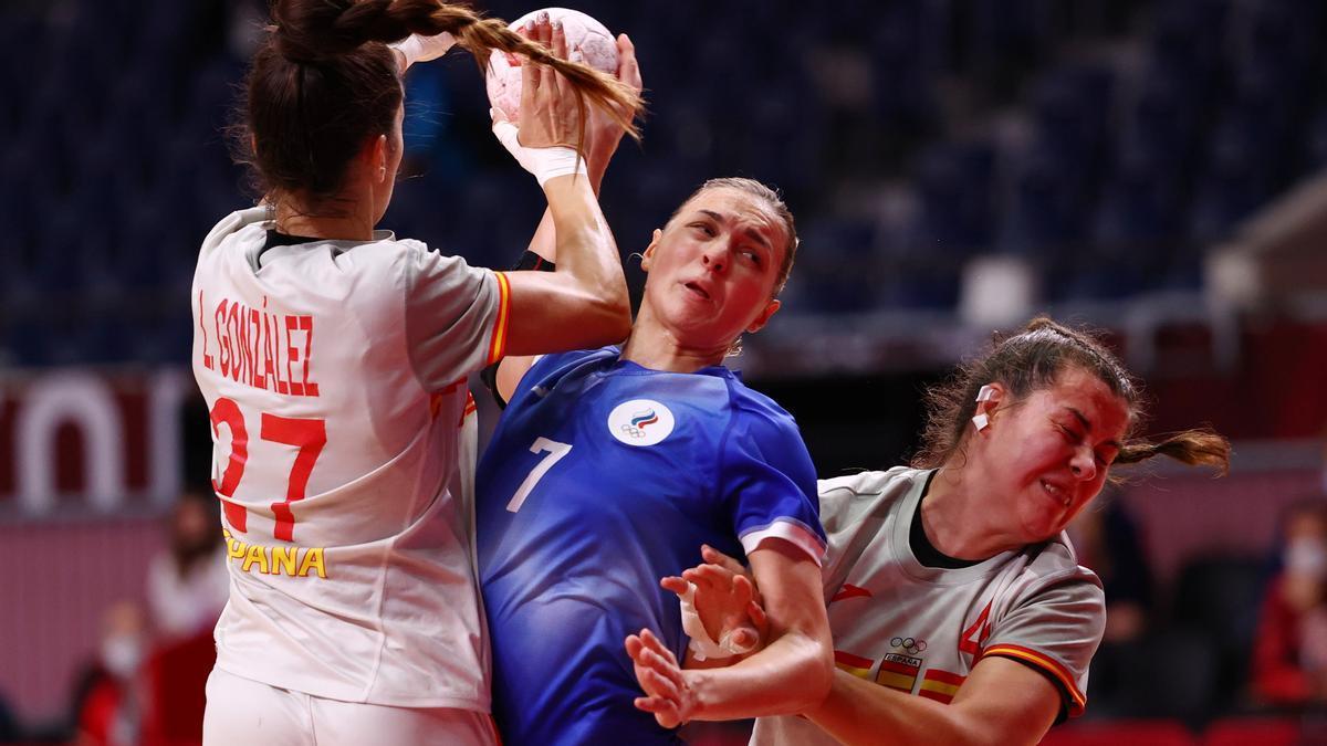 La selección femenina de balonmano perdió ante la del Comité Olímpico Ruso.