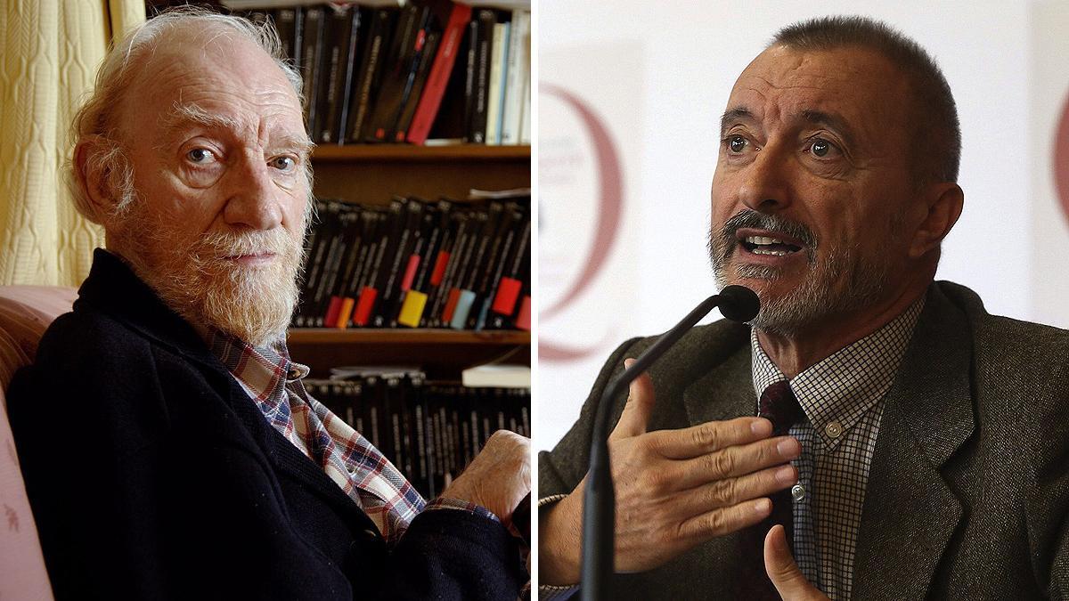 Fernando Fernán Gómez y Arturo Pérez Reverte.