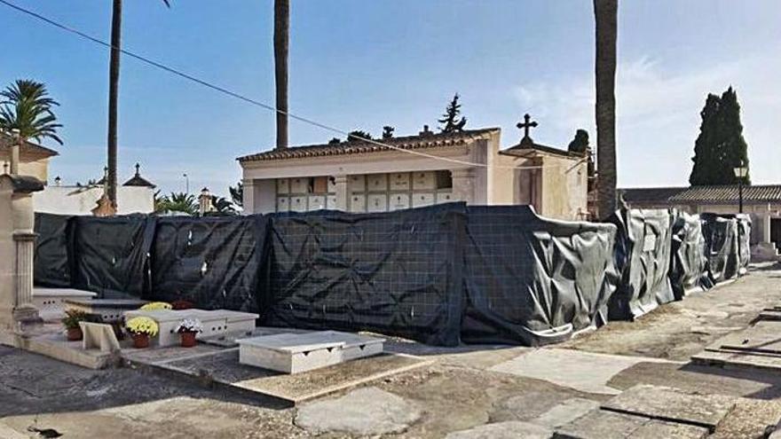 Abriss von Grabmälern in Porreres für die Suche nach Franco-Opfern