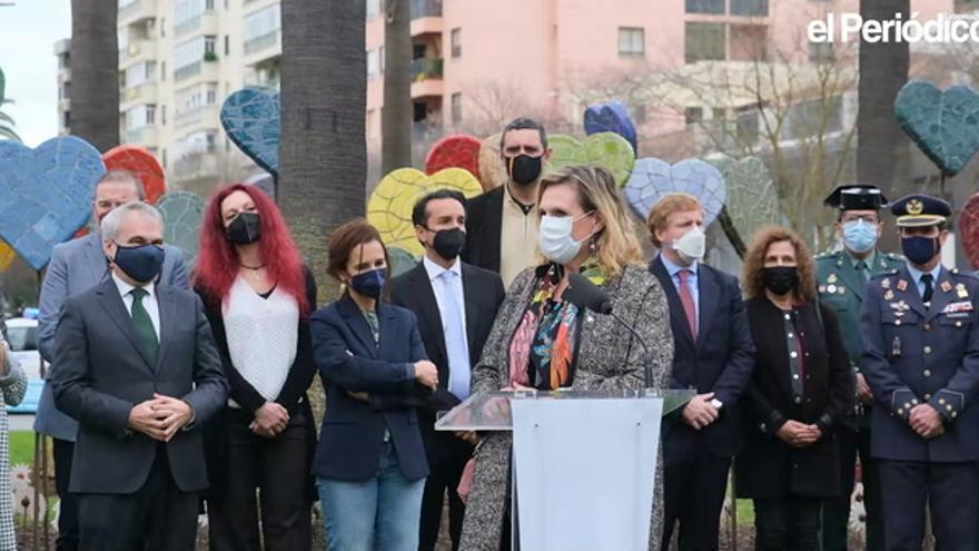 Homenaje a las víctimas del terrorismo en Badajoz