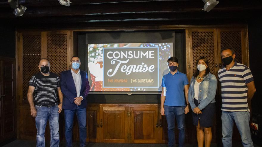 Comerciantes de Teguise protagonizan un video para incentivar el consumo local