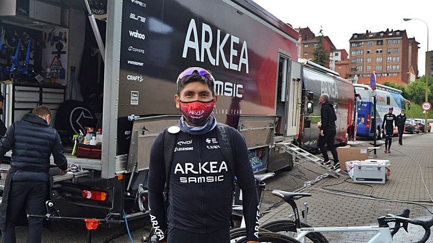 """Nairo Quintana, principal favorito para ganar la Vuelta a Asturias: """"Es un recorrido muy duro, de una gran clásica"""""""