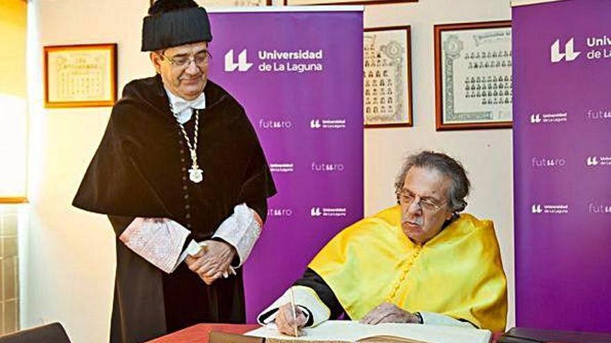 El sanabrés Antonio López Alonso, Doctor Honoris Causa en la Universidad de La Laguna
