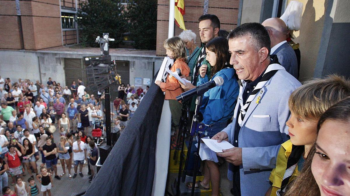 El tradicional pregó des del balcó de l'ajuntament donarà el tret de sortida als actes.   MARC MARTÍ