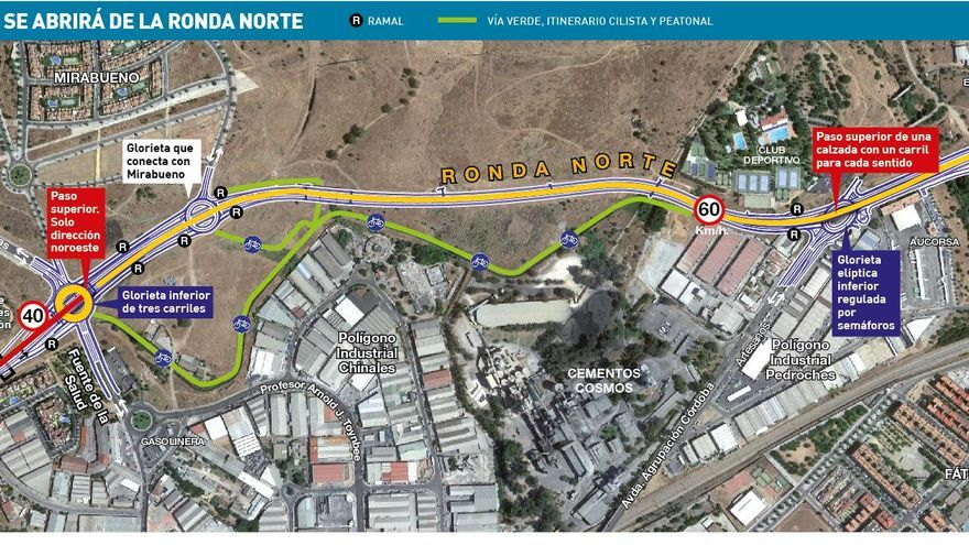 La ronda Norte de Córdoba abrirá al tráfico este jueves