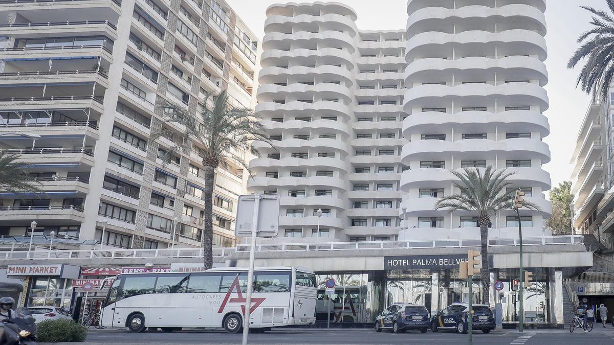 El Hotel COVID Palma Bellver donde están algunos estudiantes aislados