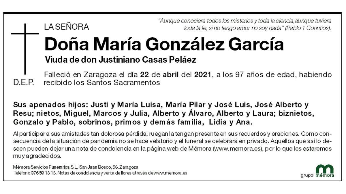 María González García