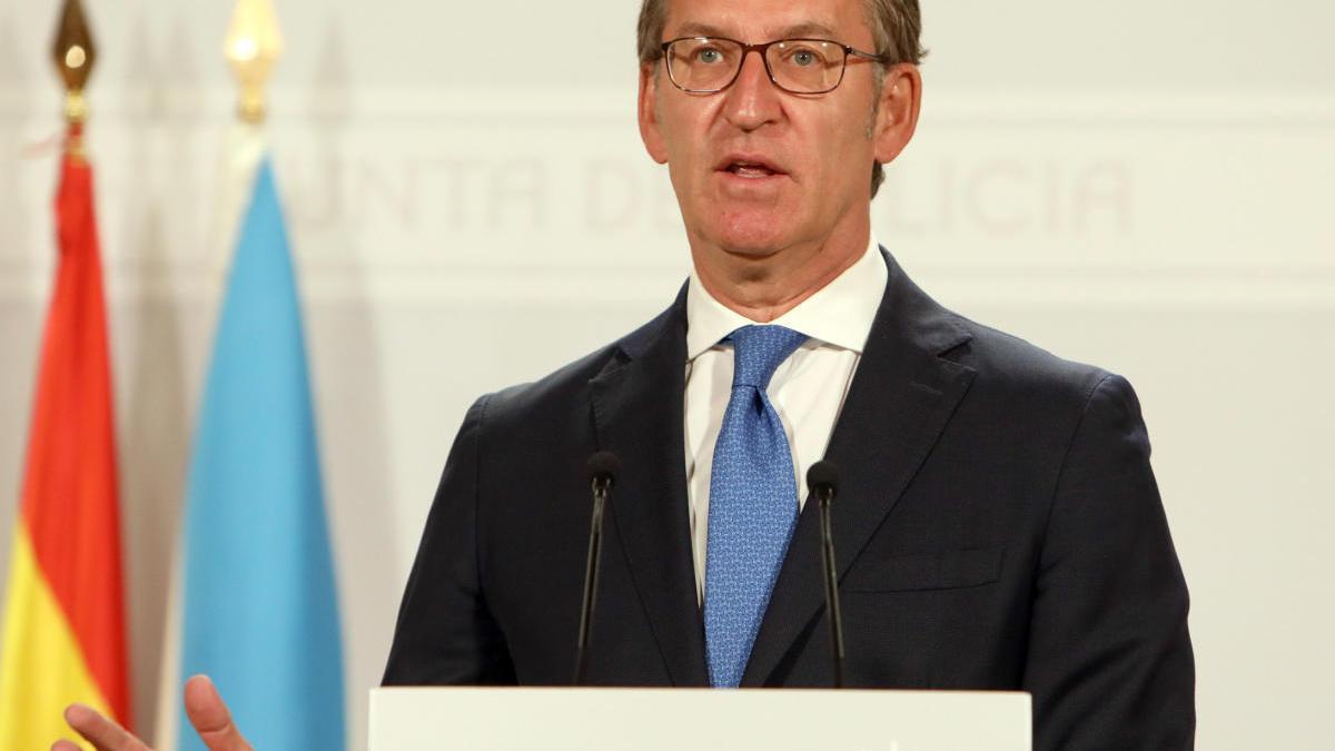 Alberto Núñez Feijóo tras el Consello de la Xunta.