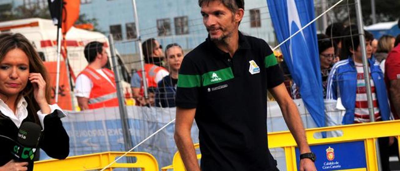 José Rodríguez, durante un momento de la prueba del miércoles.