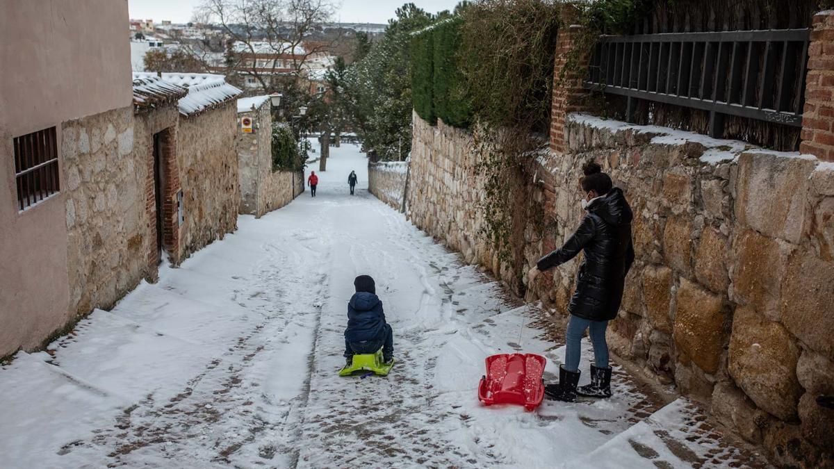 GALERÍA | Borrasca Filomena en Zamora, las imágenes del temporal
