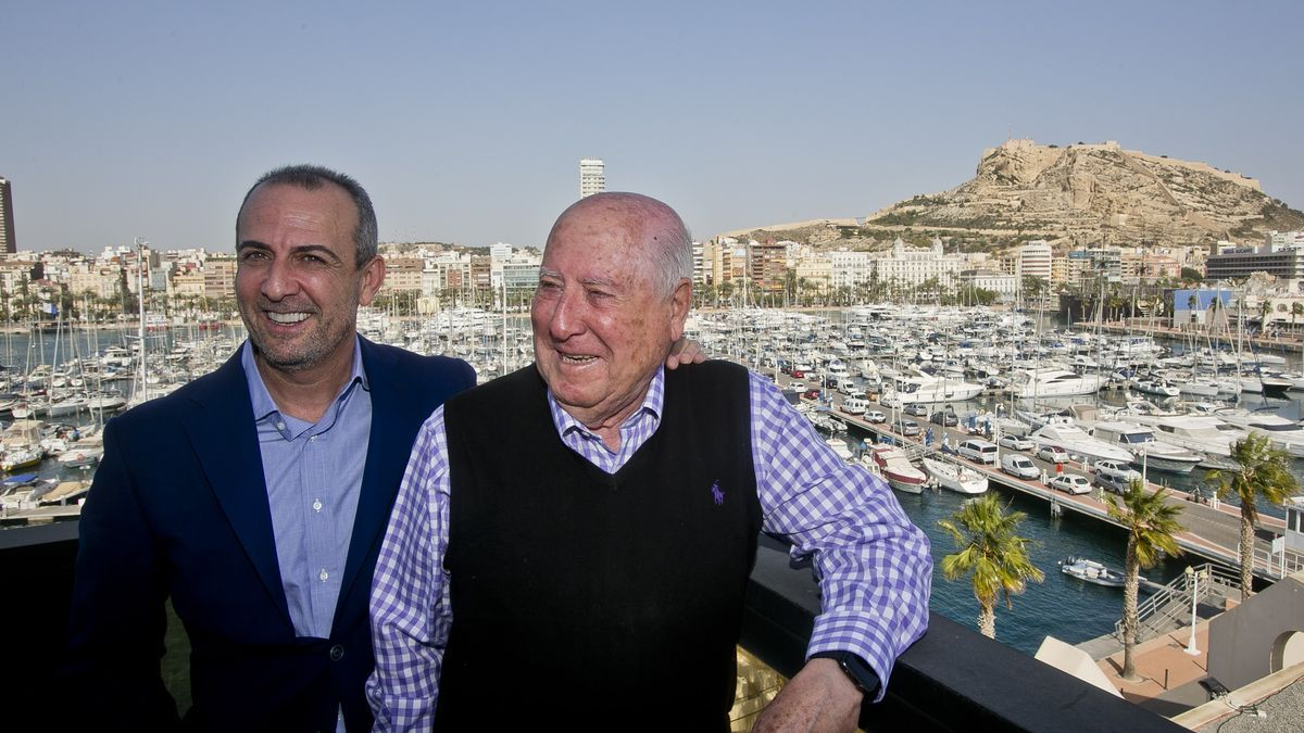 El empresario alicantino Perfecto Palacio de la Fuente, con su hijo, Perfecto Palacio.