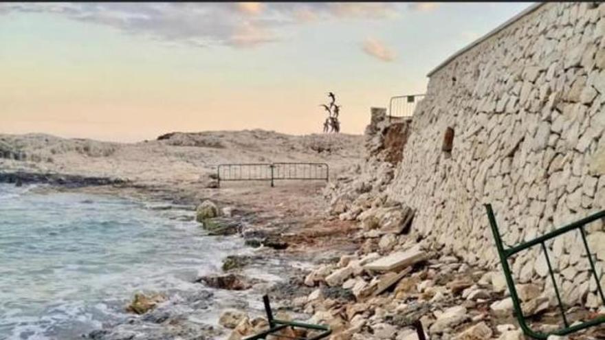 Teulada romperá el contrato con la firma que debía reconstruir el muro de la playa