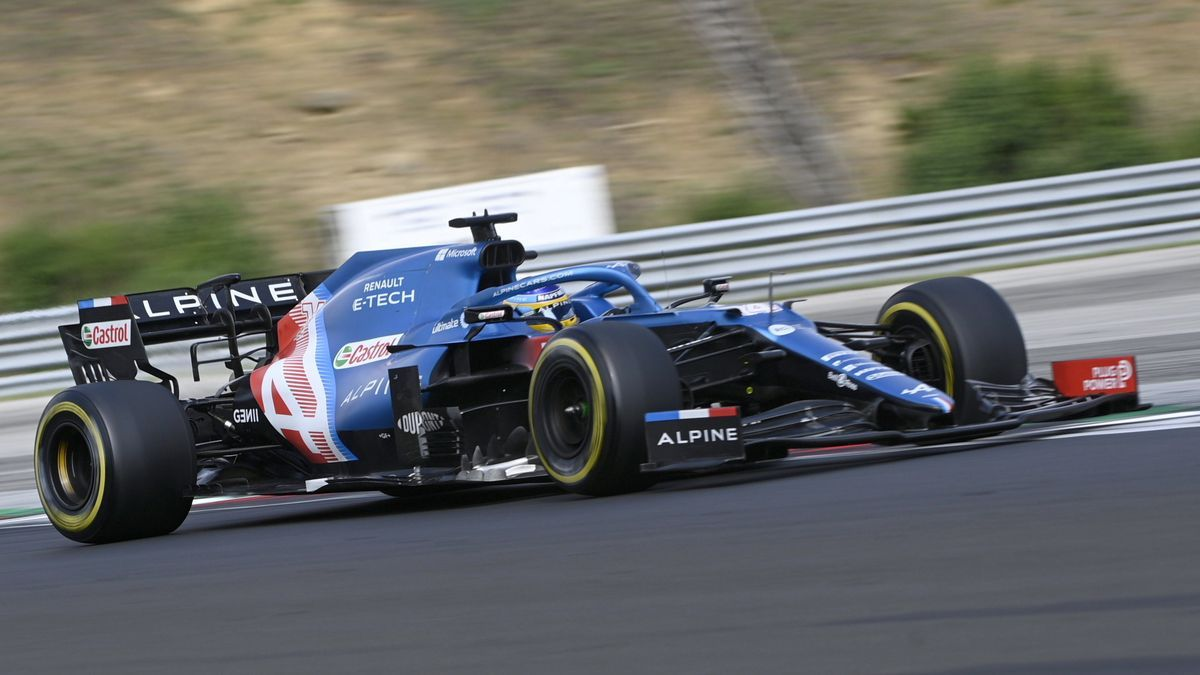 Fernando Alonso, en el Alpine.