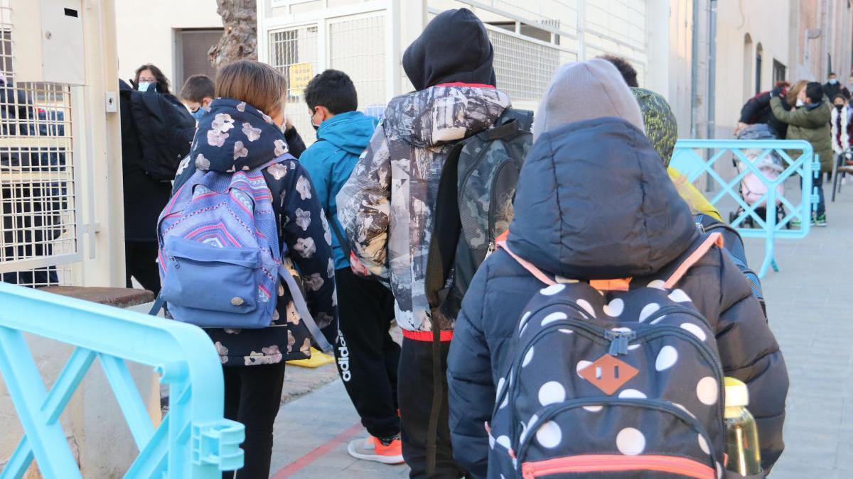 Infants de l'escola Sant Pau de Figueres.