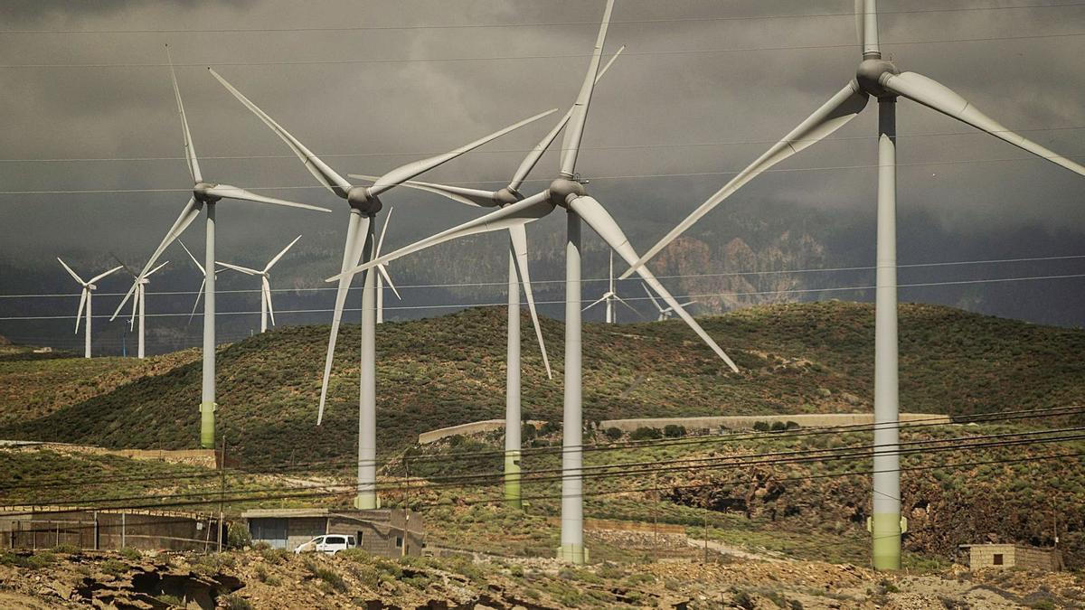 Parque eólico de La Morra, en el municipio de Arico.