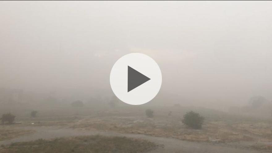 VÍDEO | Una tromba de granizo da los buenos días a los zamoranos