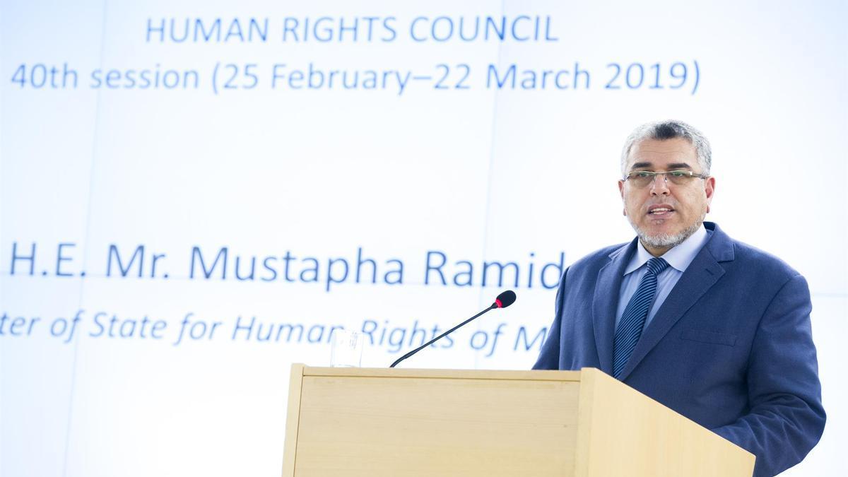 El ministro de Estado de Derechos Humanos y Relaciones con el Parlamento de Marruecos, Mustafá Ramid.