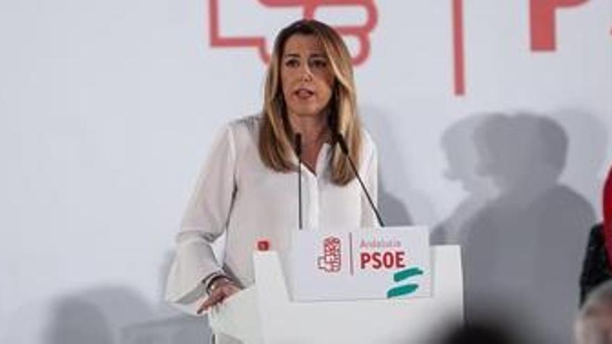 """Susana Díaz: """"Con la fuerza del millón que apoyó a PSOE seguiremos defendiendo derechos de todos"""""""