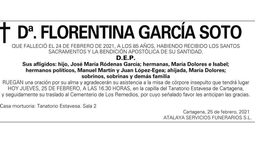 Dª Florentina García Soto