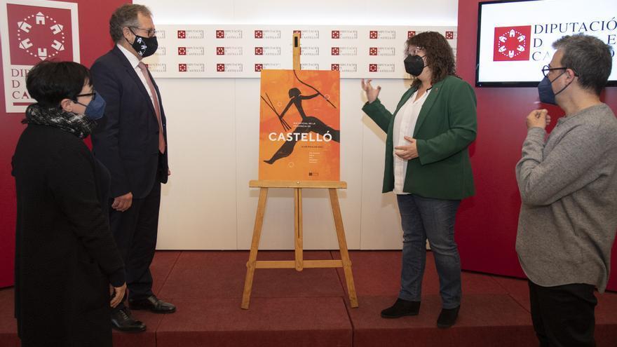 El simbólico arquero de la Valltorta promociona el Día Oficial de la Provincia de Castellón