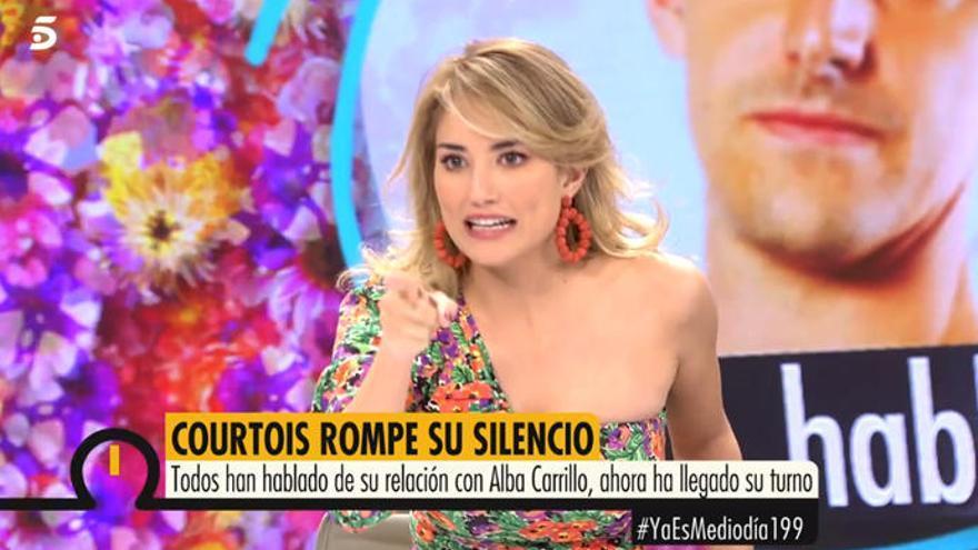 """Alba Carrillo, a Courtois: """"Tienes la bragueta demasiado suelta"""""""
