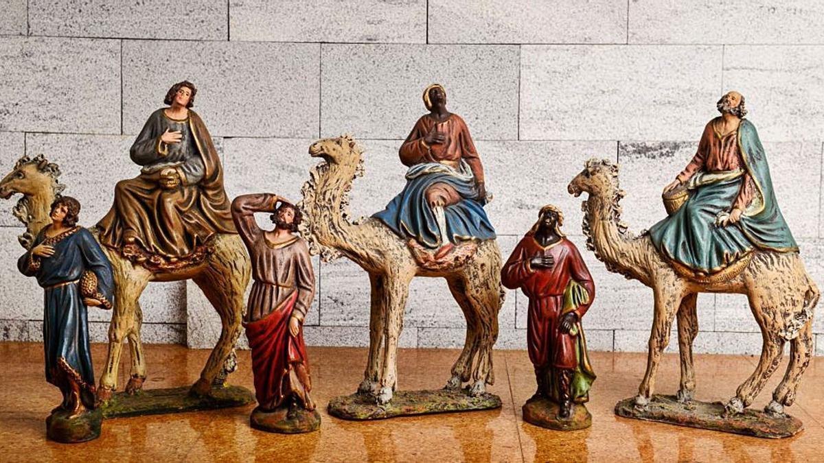 La muestra de figuras pone en valor uno de los elementos característicos de la tradición murciana.   CASA DEL BELÉN