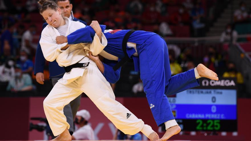 La judoca Cristina Cabaña cae ante Tina Trstenjak y se despide en octavos