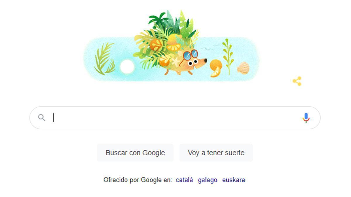 El verano, en el doodle de Google.