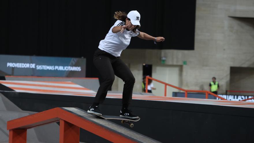 Andrea Benítez queda eliminada en el histórico debut español en skateboard