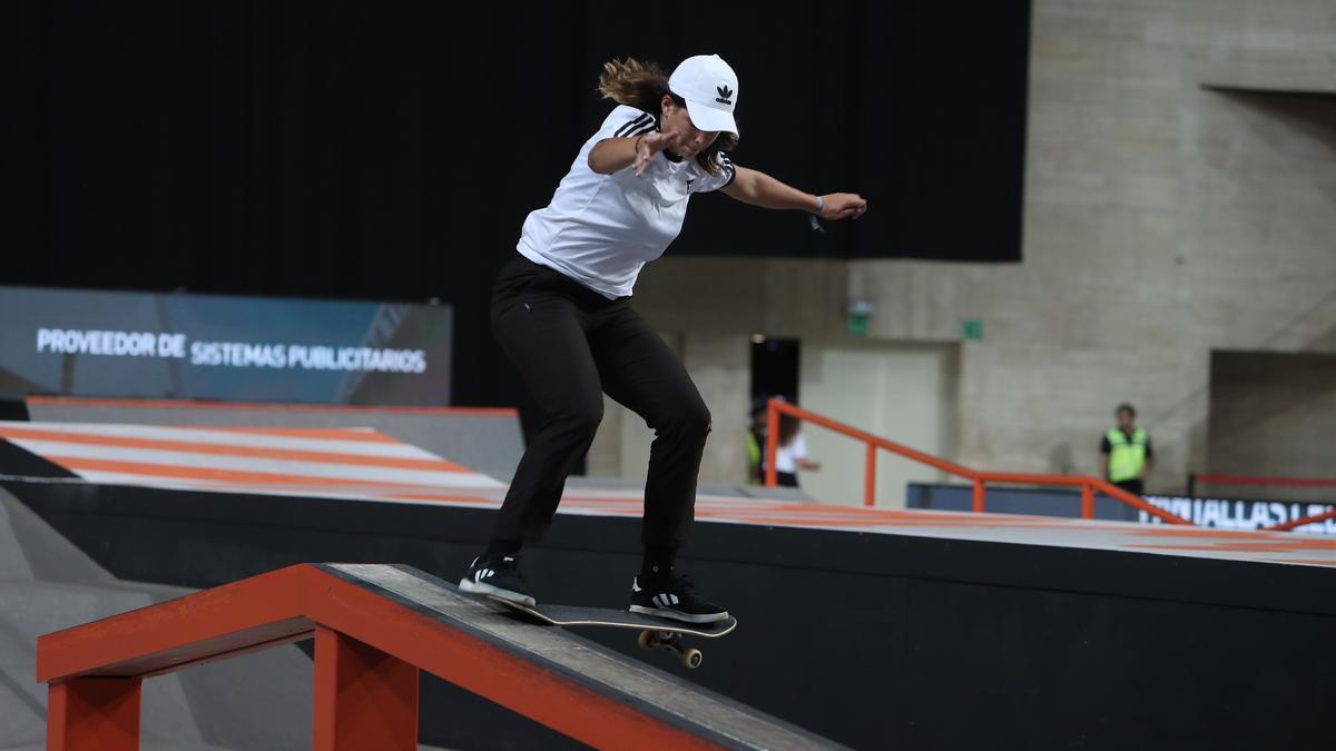 Andrea Benítez durante una competición