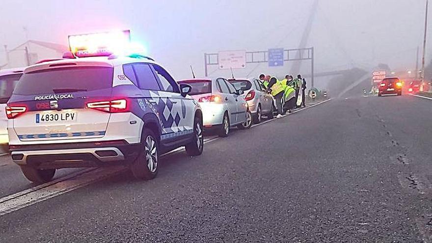 Accidente en Alfonso Molina con cinco coches implicados