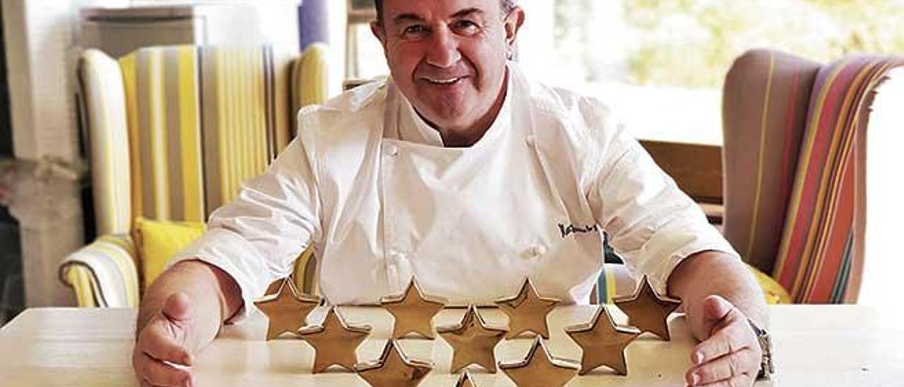 Martín Berasategui, el cocinero hispano con más estrellas Michelin, habla sobre sus proyectos en Mallorca.