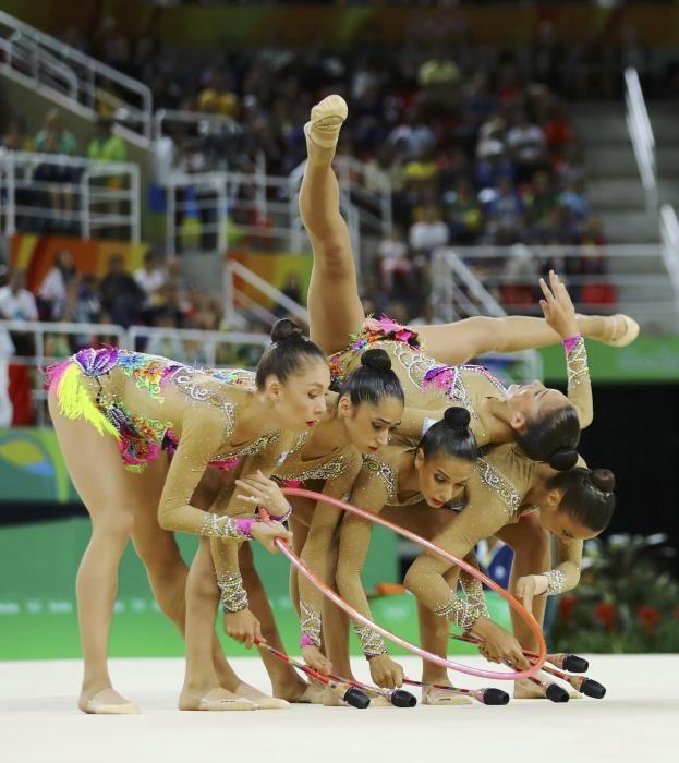 Final de gimnasia rítmica. En la imagen el equipo israelí.